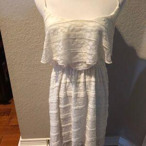 White polka dot and stripe Dress